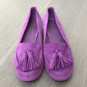 Kate Spade Electric Purple Loafers Moccasin Shoe